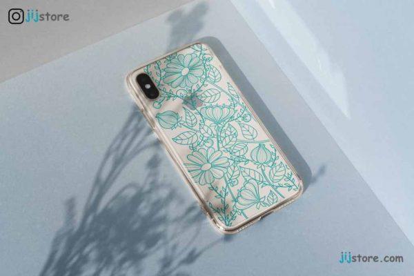 چاپ قاب گوشی طرح گل آبی2