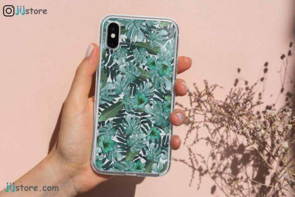 چاپ قاب گوشی طرح برگ سبز5