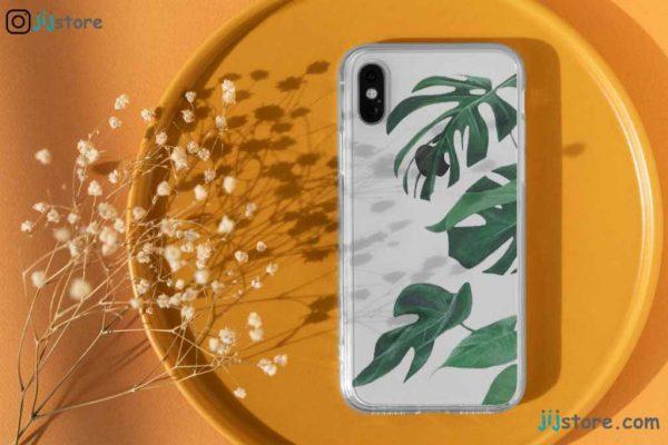 چاپ قاب گوشی طرح برگ سبز روشن3