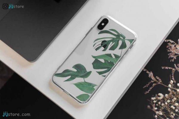چاپ قاب گوشی طرح برگ سبز روشن4