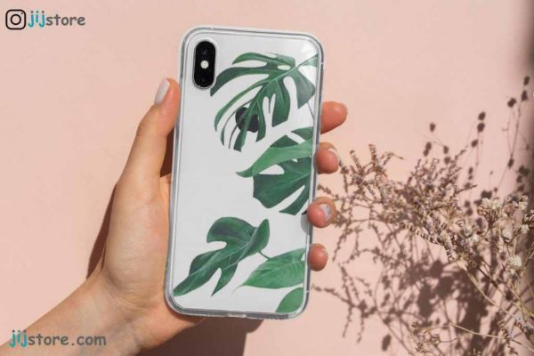 چاپ قاب گوشی طرح برگ سبز روشن5