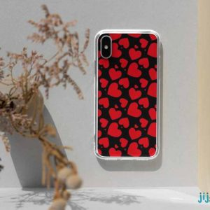 چاپ قاب گوشی طرح قلب قرمز1