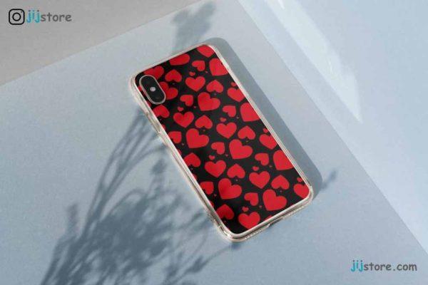 چاپ قاب گوشی طرح قلب قرمز2