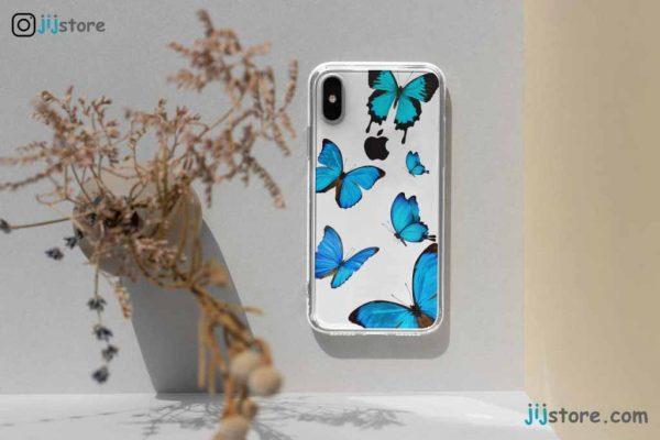 چاپ قاب گوشی طرح پروانه1